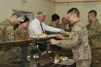Thanksgiving brings a taste of home to Paratroopers in the Baltics