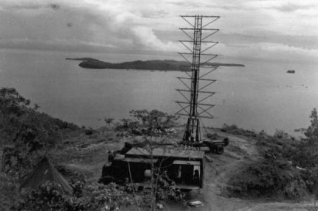 A view of the Opana Radar Station in northeast Oahu, where George Elliot and Joe Lockard were practicing using radar when the Japanese attacked. Photo courtesy of the National World War II Museum