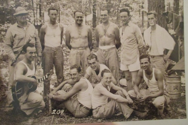 Retired Army Master Sgt. Thomas V. Panettiere Sr., from the Bronx in Hawaii, several months after the Pearl Harbor attack with his unit (he's the one holding the guitar). He was one of the millions of Soldiers, Sailors and Marines who were in Hawaii during World War II, on their way to various island campaigns in the Pacific. He didn't discuss the war much with his son, Thomas V. Panettiere Jr., so it is not clear what unit he was with. This photo has never been published.