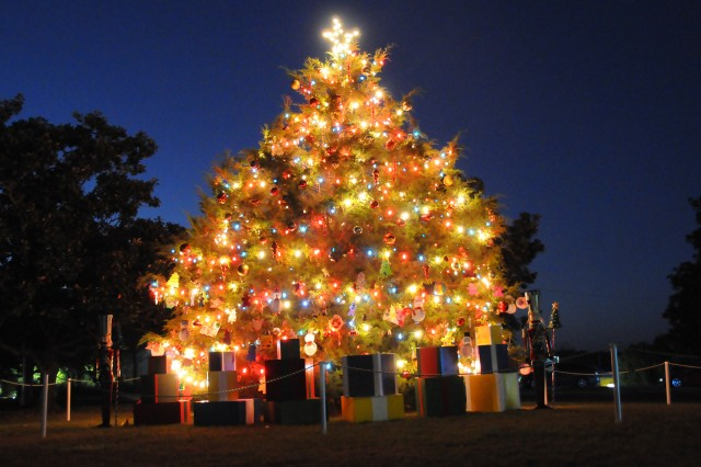 The post Christmas tree ushers in the holiday season following last year's lighting ceremony. This year's ceremony will take place on Howze Field Dec. 1 from 5-6 p.m.