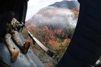 Tennessee Army National Guard assists in wildfire response