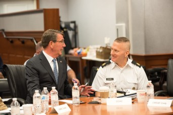 Carter addresses the Defense Senior Enlisted Leader Council
