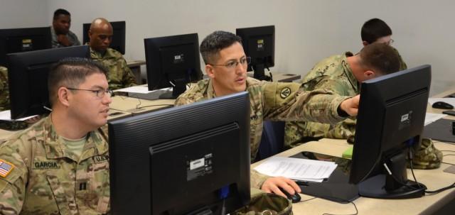 597th Transportation Brigade leaders take TAMIS training course