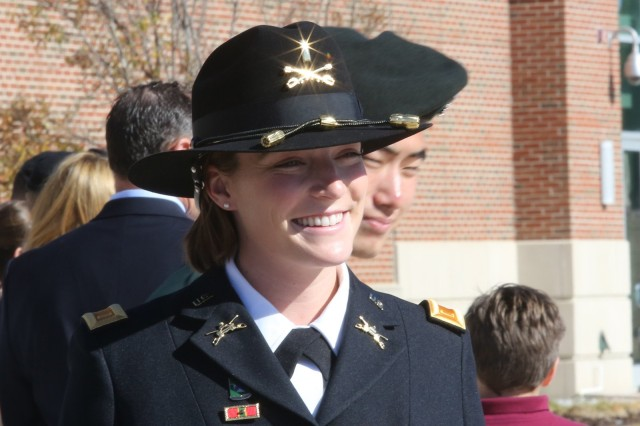 One of 13 female Armor officers graduate, Dec. 1.,  from the Armor Basic Officer Leader Course at Fort Benning, Ga.