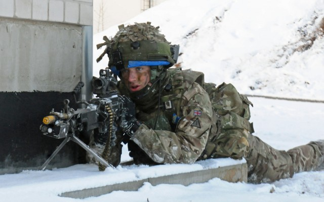 Sky Soldiers take part in urban assault training