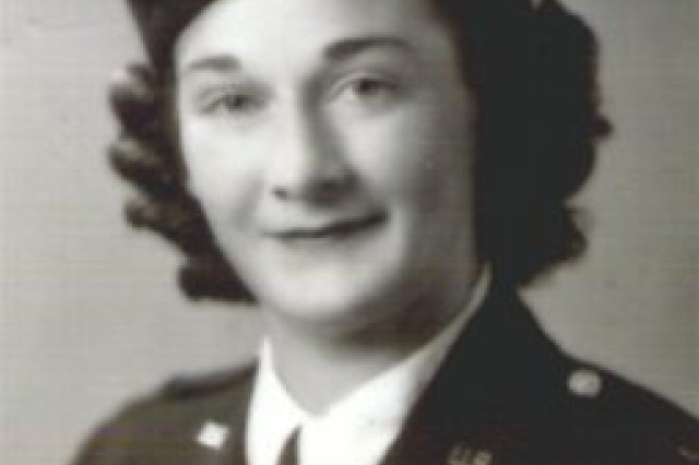 Pearl Harbor nurse Teresa Stauffer in her formal Army attire in the early 1940s.