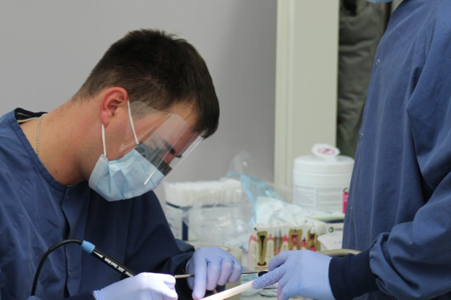 Personnel from the 618th Dental Company Area Support (DCAS) gave back to the community December 3, 2016 to some 66 Area II retirees and their dependents at the annual 618th DCAS Retiree Appreciation Day. Free exams and dental cleanings were offered.
