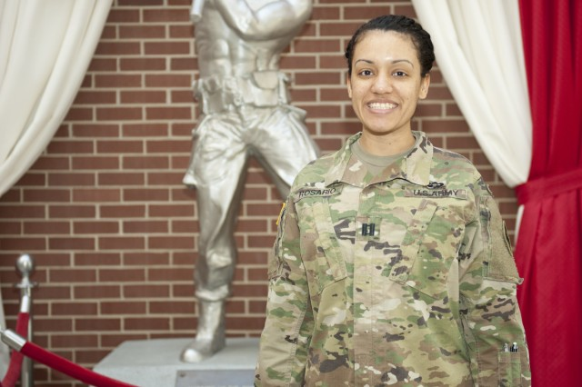 Capt. Monica Rosario, a cancer survivor, is at Fort Leonard Wood awaiting her pick-up for Engineer Captain's Career Course.