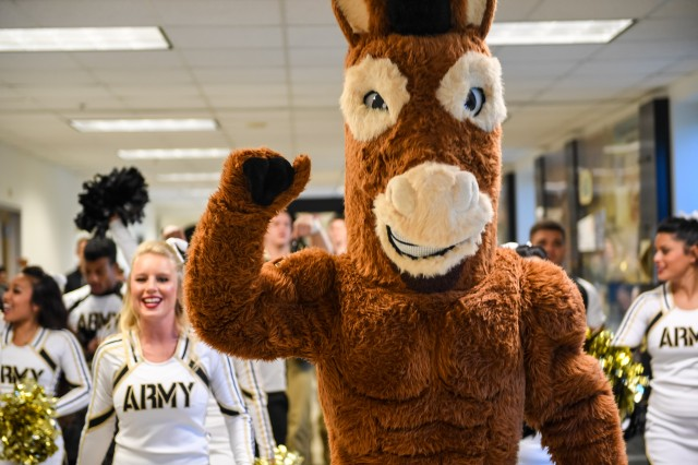 U.S. Army Senior Leadership Team hosts the annual Army-Navy pep rally at the Pentagon, December 9, 2016 in Arlington, VA.