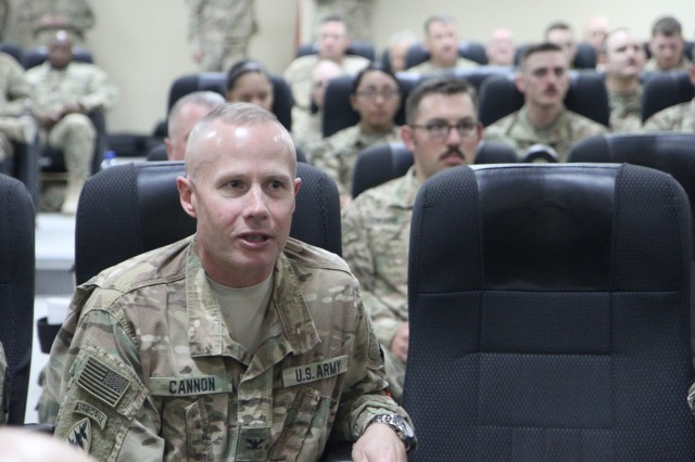 79th SSC commanding general visits Soldiers deployed in Kuwait