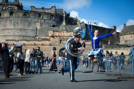 U.S. Army Europe's Band and Chorus performing daily, alongside other military bands from across the world, at the Royal Edinburgh Military Tattoo, Aug. 5 to 27, 2016, at the historic Edinburgh Castle, in Scotland.