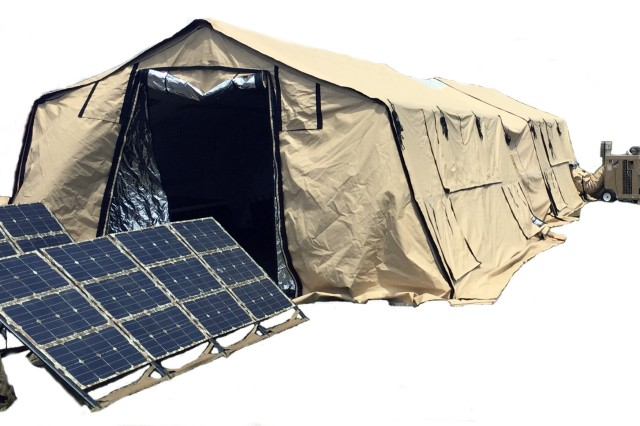 The Natick Soldier Research, Development and Engineering Center's Expeditionary Basing & Collective Protection Directorate is designing a Small Unit Sustainment System, or SUSS (pictured here). The goal is to reduce the logistical burden while increasing the self-sufficiency and quality of life for squads and small units.