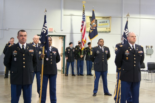 LANCASTER, Pa. - The 3rd Battalion 319th Regiment conducted their unit's deactivation ceremony in Lancaster, Pa. on Dec. 17, 2016. The ceremony marks the closing of the unit as part of a larger restructuring of the 800th Logistics Support Brigade, headquartered in Mustang, Oklahoma.