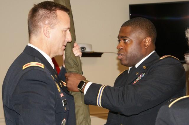 Passing the Battalion Colors