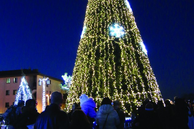 Camp Humphreys officially opened the holiday season with the Christmas tree lighting on Dec. 9 in Transformation Park.
