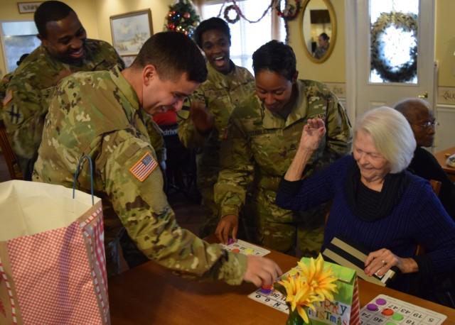 Georgia Guard members bring Christmas spirit to the community