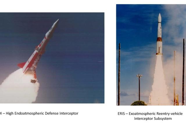 High Endoatmospheric Defense Interceptor, or HEDI, and the Exoatmospheric Reentry-vehicle Interceptor Subsystem, or ERIS.