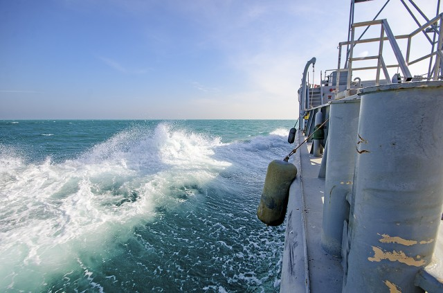 APS-5 watercraft sets sail for sea trial