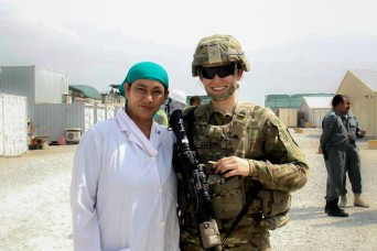 1st Lt. Gibbons is looking after Afghan police women