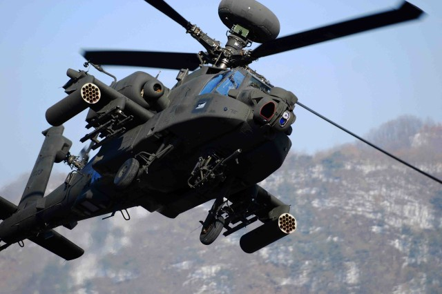 The Improved Turbine Engine Program will eventually replace the existing General Electric T700-GE-701C/D engines that now power AH-64 Apache like this one and UH-60 Black Hawk aircraft.