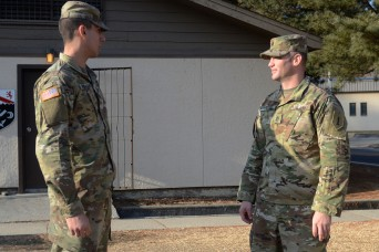 'Devil' brigade NCO mentors son during Korean deployment