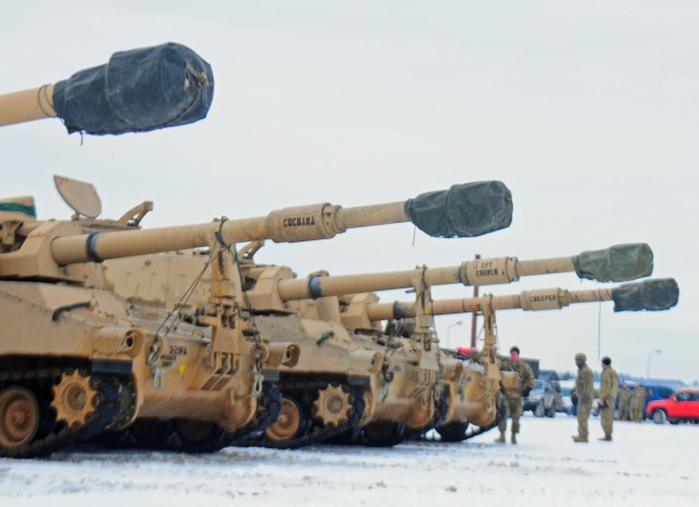 Vehicles roll into Poland for Atlantic Resolve