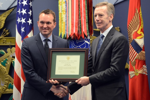 Secretary of the Army Eric K. Fanning recognized Dr. Alan F. List, Tampa Bay region, Florida,as a Civilian Aide to the Secretary of the Army, during a CASA investiture ceremony, January 9, 2017 in the Pentagon's Hall of Heroes. A CASA is a civilian who acts as a liaison for the secretary of the Army in his or her community. The goal of the CASA program is to, among other things, create stronger bonds between civilian communities and the Army, and build greater awareness of the Army and what it does, especially in communities with little exposure to the Army.