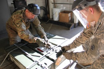 Reserve Soldiers 'sweep' excess ammo