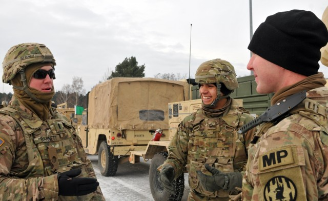 4th ID maintains security throughout convoy to Poland