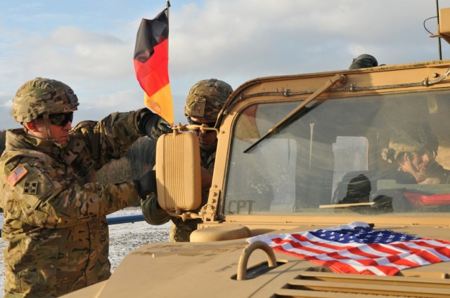 4th ID crosses the border into Poland after three-day convoy