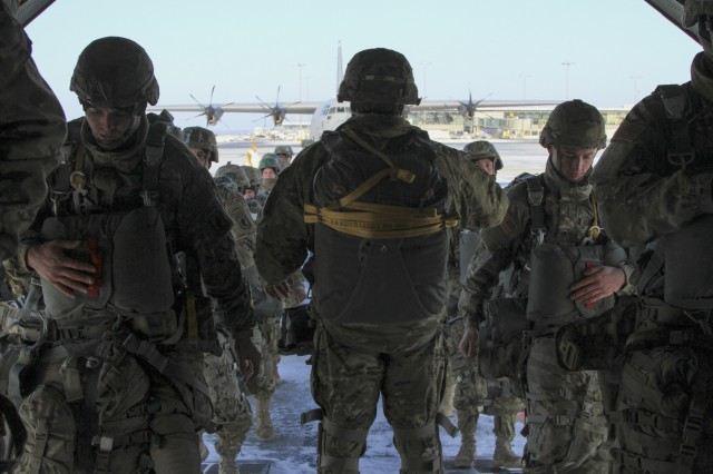 Paratroopers showcase versatility during winter airborne operation