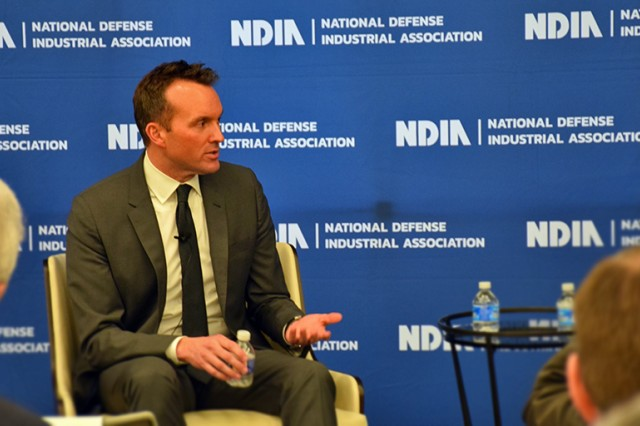 Secretary of the Army Eric Fanning address the audaince at NDIA Forum on Jan. 13 disucssing the challenges ahead for the military and new models of partnership for defense and industry.
