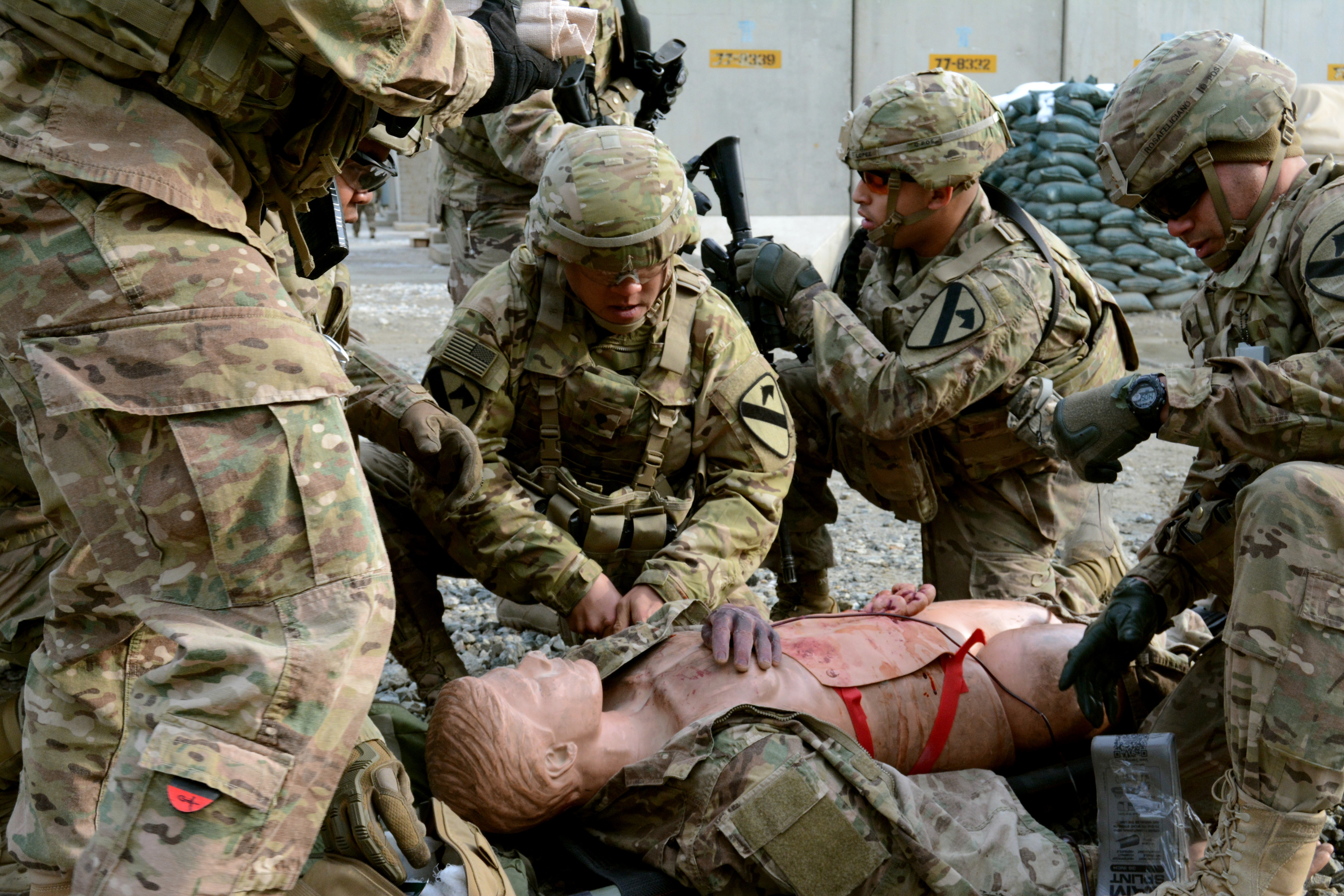 Soldiers sharpen skills during attack drill at BAF