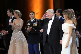 President Trump honors service members at military ball