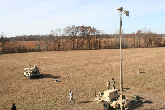 With support from Soldiers from the 1st Brigade Combat Team, 101st Airborne (Air Assault) Division, the Army successfully completed the second of two Warfighter Information Network-Tactical (WIN-T) Increment 2 Tactical Communications Node-Lite (seen here) and Network Operations and Security Center-Lite developmental tests at Fort Campbell, Kentucky, in mid-December 2016. (U.S. Army photo by Amy Walker, PEO C3T Public Affairs)
