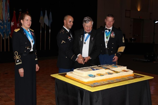 Cutting the Ceremonial Cake
