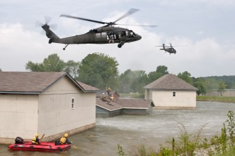 Kentucky Guard MEDEVAC trains for water rescue