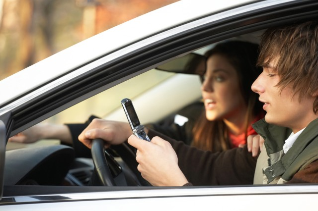Text messaging is flagged as one of the most dangerous distractions because it requires visual, manual and cognitive attention from the driver.