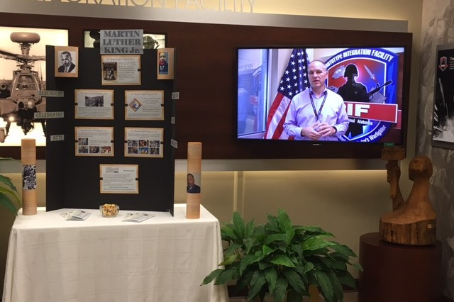 In honor of Martin Luther King Jr. Day, the team created a display in the PIF lobby that included a table presentation with historical references and a seven-minute educational video.