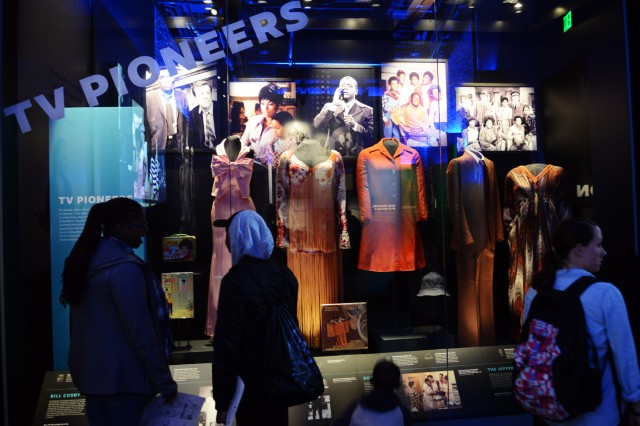 Many interesting and informative items, like photos and apparel of African-American TV stars, are on display at the Smithsonian National Museum of African American Heritage and Culture on the Mall in Washington, D.C.
