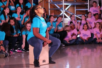 Youth members of Camp Zama step outside the box; perform for community