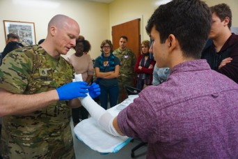 Vicenza Army Health Clinic gives students a clean break