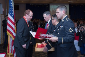The Belgium ambassador to South Korea, Soldiers and civilians recognized at St. Barbara's Ball