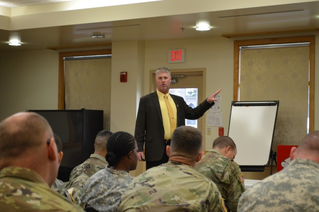 The GPC Branch provides live training to cardholders. Dunaway and his team ensure that cardholders use their government-issued cards appropriately— work that won recognition from the deputy assistant secretary of the Army for procurement.