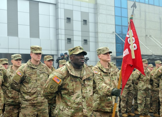 588th BEB, 4th ID has welcome celebration ceremony