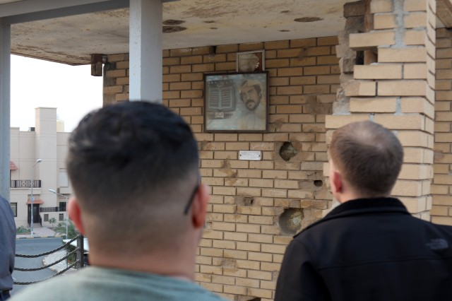 Junior officers stationed at Camp Arifjan, Kuwait, toured the Al Qurain Martyrs' museum and the Kuwaiti Towers, Jan. 20, 2017 as part of the junior officer's leadership professional development at U.S. Army Central. The U.S. Army officers learned about the historic significance of that site, the role the U.S. played, and the importance of the Kuwaiti people's perseverance.