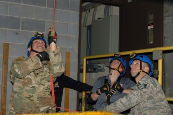 New York National Guard Civil Support Team training State Police in confined area operations