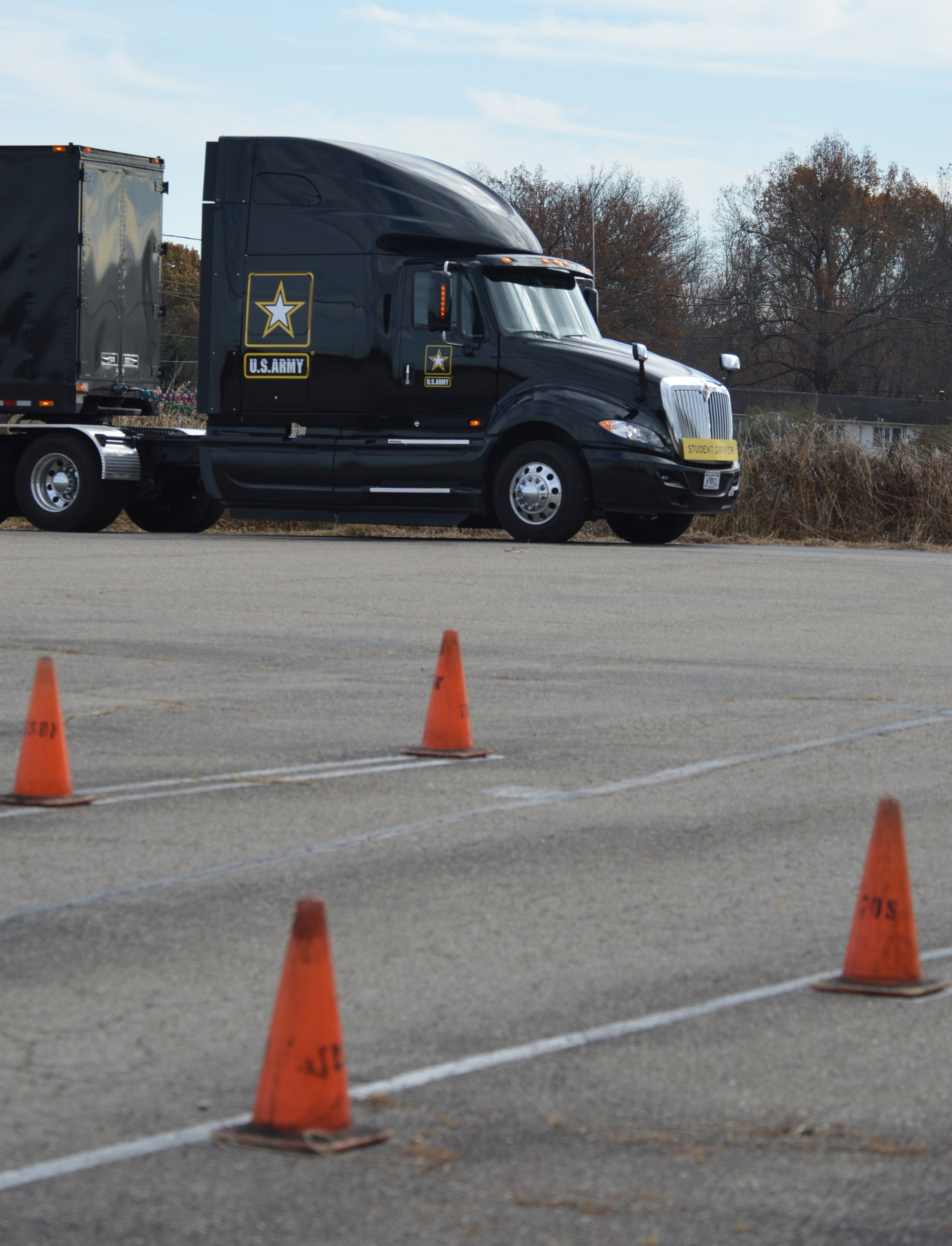 Army s only in house CDL program trains Sol rs to drive semis