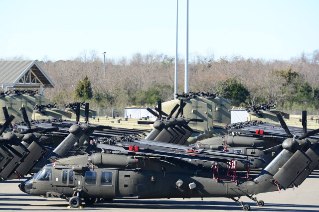 The 841st Transportation Battalion staged more than 900 pieces of equipment, Jan. 25, 2017, at Joint Base Charleston -- Weapons Station, S.C. The equipment was staged at the transportation core (TC) dock. All pieces were loaded onto the transport ship, ARC Endurance, for shipment to overseas.