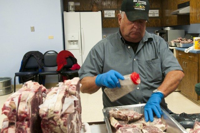 Steaks for troops of 86th ESB